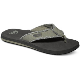 Quiksilver Monkey Abyss Sandalias Hombre, green/black/brown